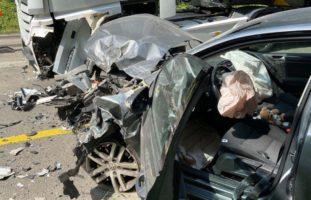 Heftiger Unfall