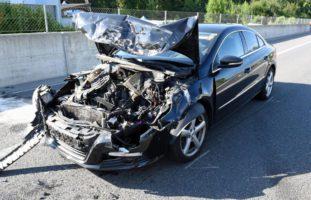 Auffahrunfall auf der Autobahn A14 in Buchrain