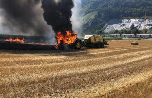 Nach Brand: Traktor in Trimmis GR mit Totalschaden
