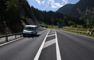 Unfall im Bärenburgtunnel Andeer GR