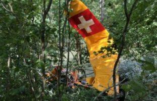 Freiburg FR - Flugzeug abgestürzt