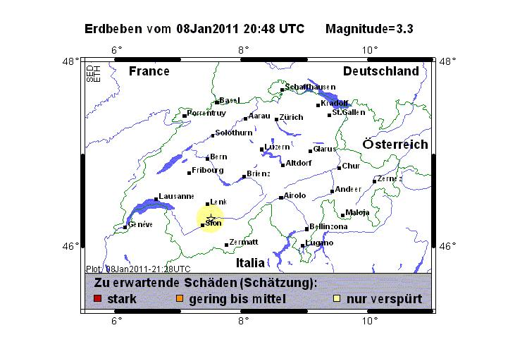 Erdbeben in der Region Siders - Polizeinews.ch