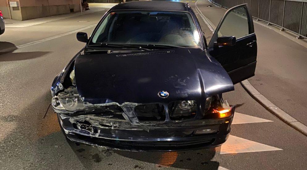 BMW-Fahrer verursacht in Niederlenz AG einen Selbstunfall