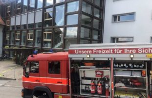 Ventilator-Brand in Altenheim in Berneck: Bewohnerin im Spital