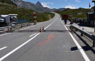 Motorradunfall auf dem Bernina Hospiz in Poschiavo