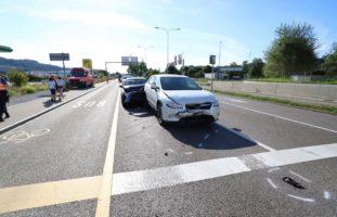Unfall St.Gallen SG - Drei Verletzte bei heftigem Auffahr-Crash