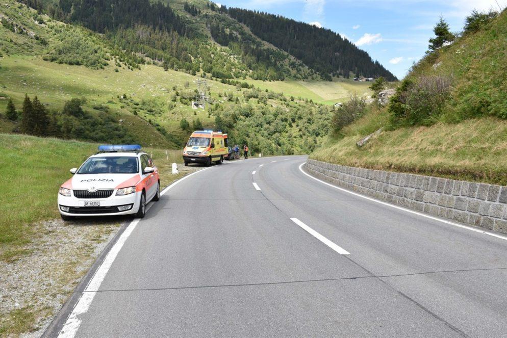 Unfall am Lukmanierpass in Medel