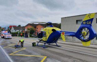 Mann (33) bei Arbeitsunfall in Zug ZG erheblich verletzt