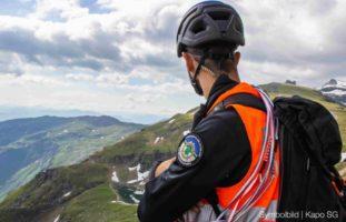 Walenstadt SG - Gleitschirmpilot nach Absturz ins Spital geflogen