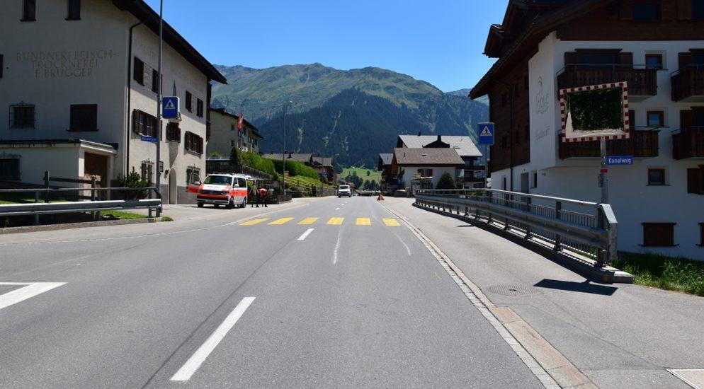 Verkehrsunfall in Klosters GR