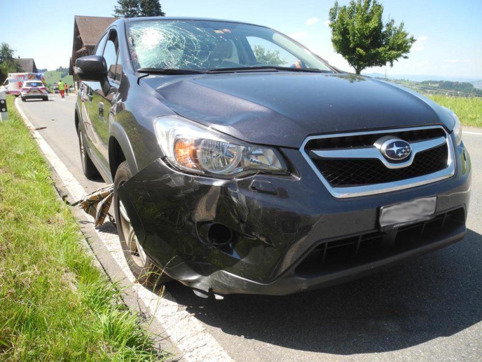 Velofahrerin bei Unfall in Wollerau lebensbedrohlich verletzt