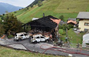 Hausbrand in Wiesen GR