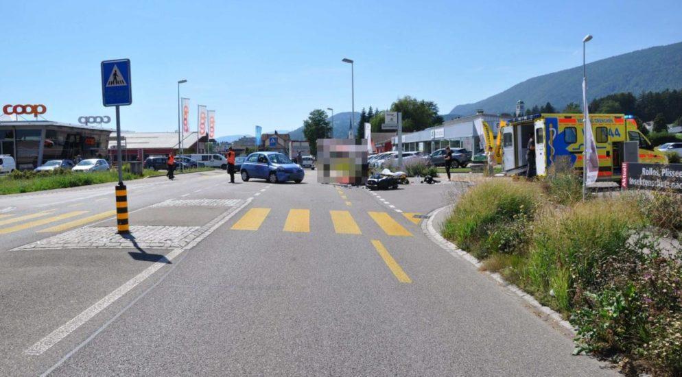 Motorradlenker in Grenchen SO von Auto erfasst
