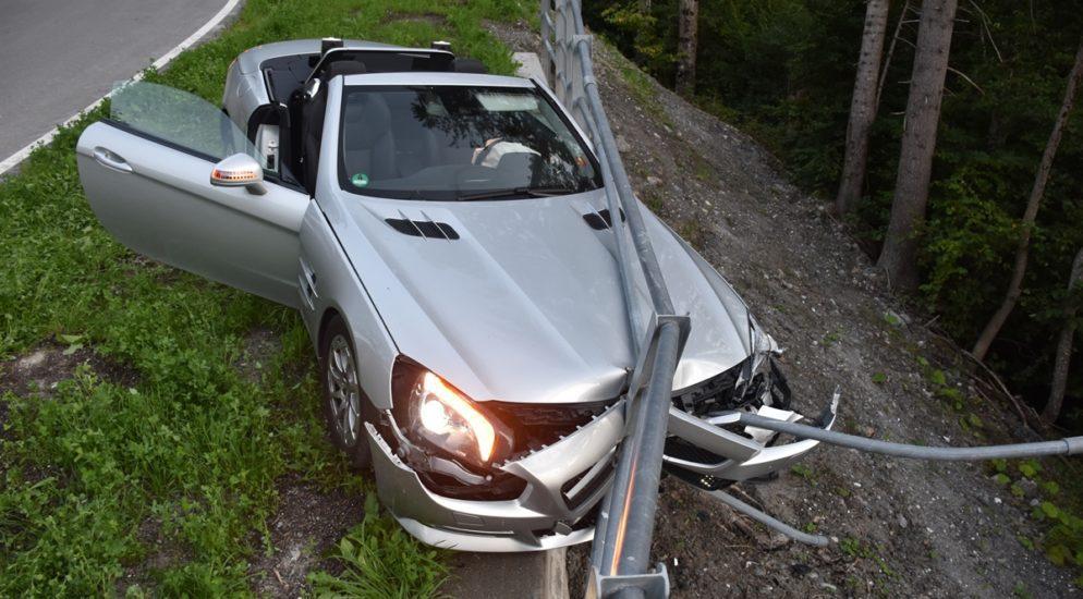 Heftiger Verkehrsunfall in Grüsch