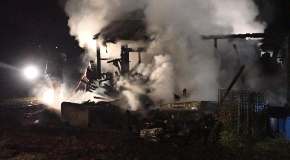 Gartenhaus in Winterthur durch Feuerwerk abgebrannt