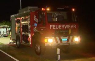 Brand durch Böller am Bahndamm in Basel