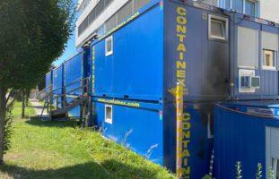 Wohncontainer in Risch Rotkreuz ZG in Brand geraten