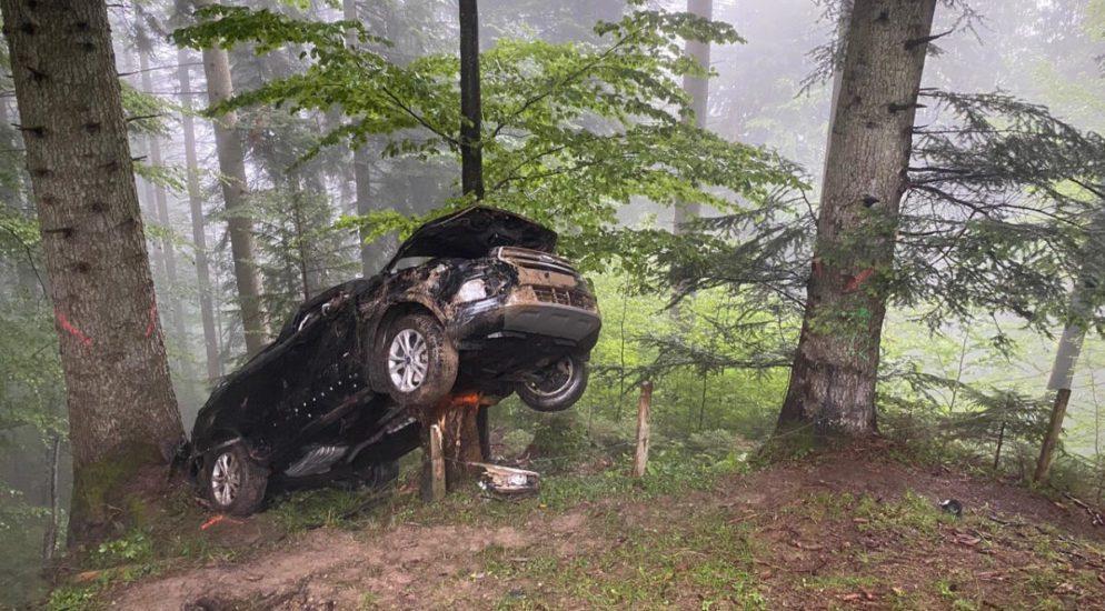 Unfall Auto Sturz