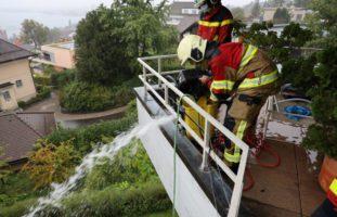 Überschwemmung Zug