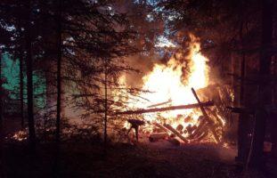 Brand Feuerwehr Holz