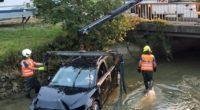 Selbstunfall in Malters LU - Auto aus Bachbett geborgen