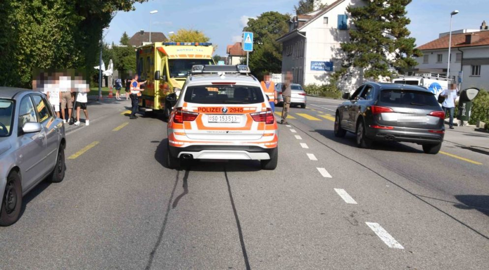 Kleinkind in Grenchen SO von Auto erfasst und verletzt