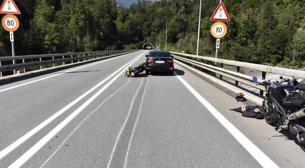 Verkehrsunfall Graubünden Motorrad