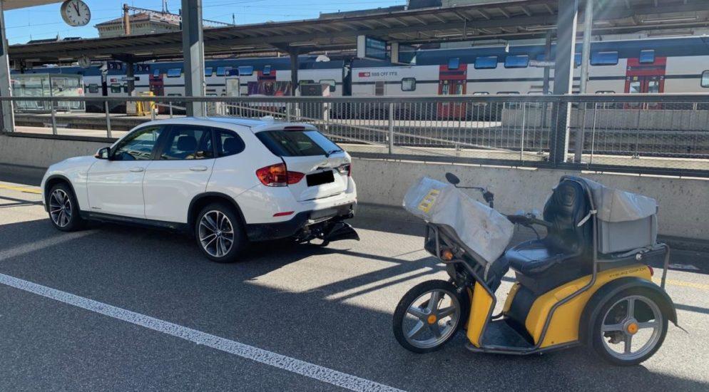 Elektro-Dreirad-Fahrer (21) bei Auffahrunfall in Schaffhausen verletzt