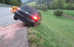 Heftiger Unfall in Buus BL