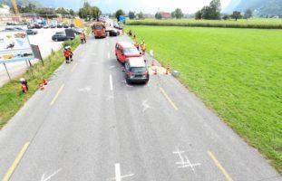 Näfels GL - Frontal-Crash: Unfall mit drei PW
