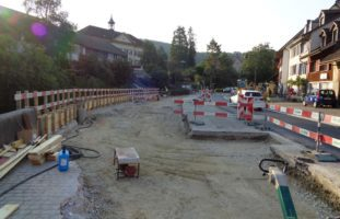 Bauarbeiten an der Hauptstrasse in Bubendorf
