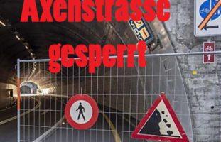 Axenstrasse in Sisikon UR gesperrt