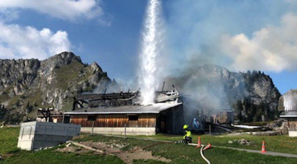Bergrestaurant auf der Alp Seeberg in Zweisimmen niedergebrannt