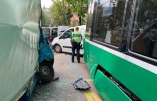 Strassensperre wegen Verkehrsunfall Basel