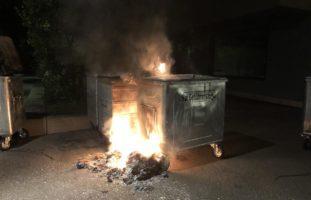 Pfäffikon SZ - Container abgebrannt