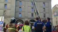 Feuerwehreinsatz am Kornhausplatz in Bern BE