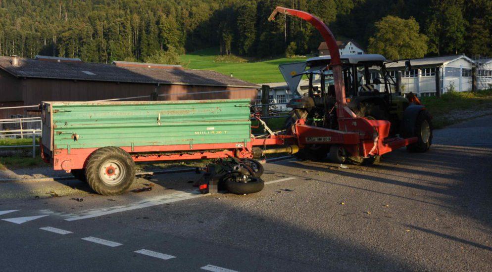 Kollision in Oberrindal SG
