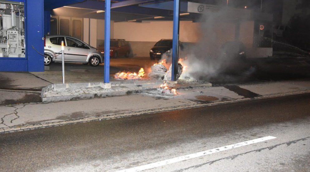 Brand Feuerwehr Oberuzwil