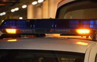 Polizei Straße gesperrt