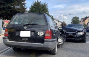 Heftiger Crash in Schaffhausen