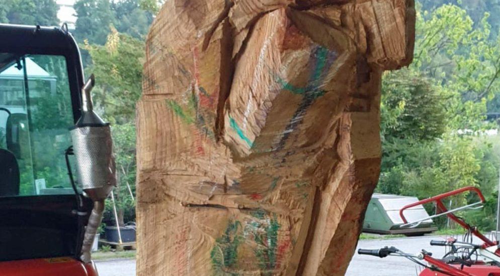 Holzskulptur in Luzern entwendet