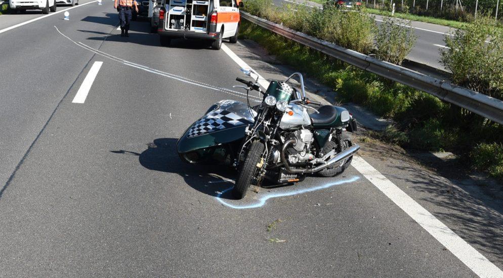 Zizers GR - Schwerer Unfall auf der Autobahn A13