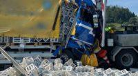 Heftiger Unfall auf der Autobahn A2 bei Reiden LU