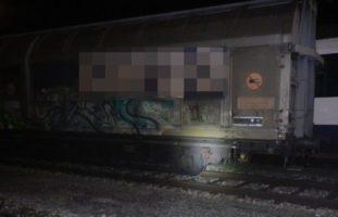 Güterwagen bei Rangiermanöver im Bahnhof in Romanshorn entgleist