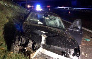 Münchwilen TG: Heftiger Verkehrsunfall auf der A1