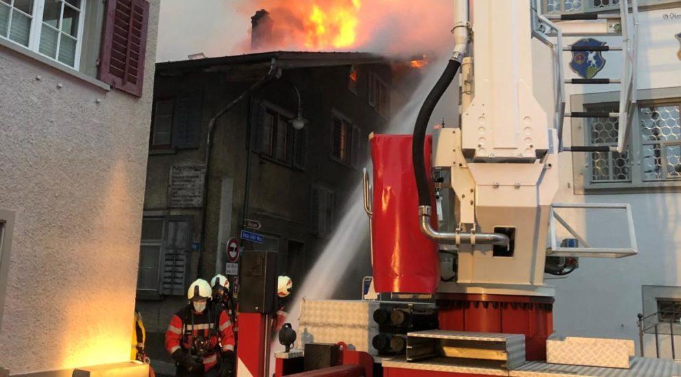 Wohnhaus in Mollis GL in Brand geraten