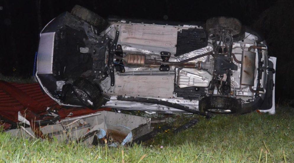 Rehetobel AR: 19-jähriger Autolenker verunfallt
