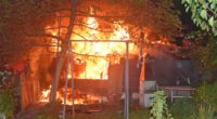 Gartenhaus in Brand