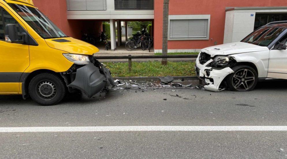 Verkehrsunfall in Zug fordert zwei Verletzte