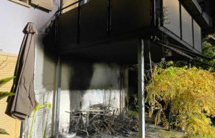 Terrassenbrand in Zug